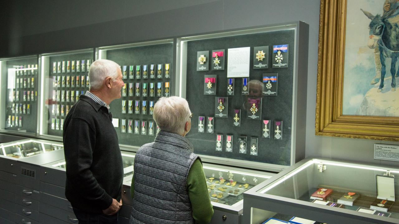 Situated in the heart of the museum, our Medal Repository houses approximately 10,000 individual medals including Charles Upham VC & Bar.