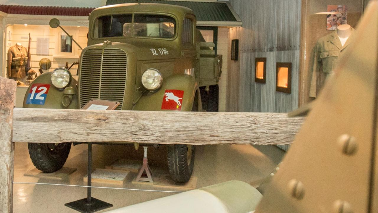 Visitors are able to get a close-up view of our heritage military vehicles.