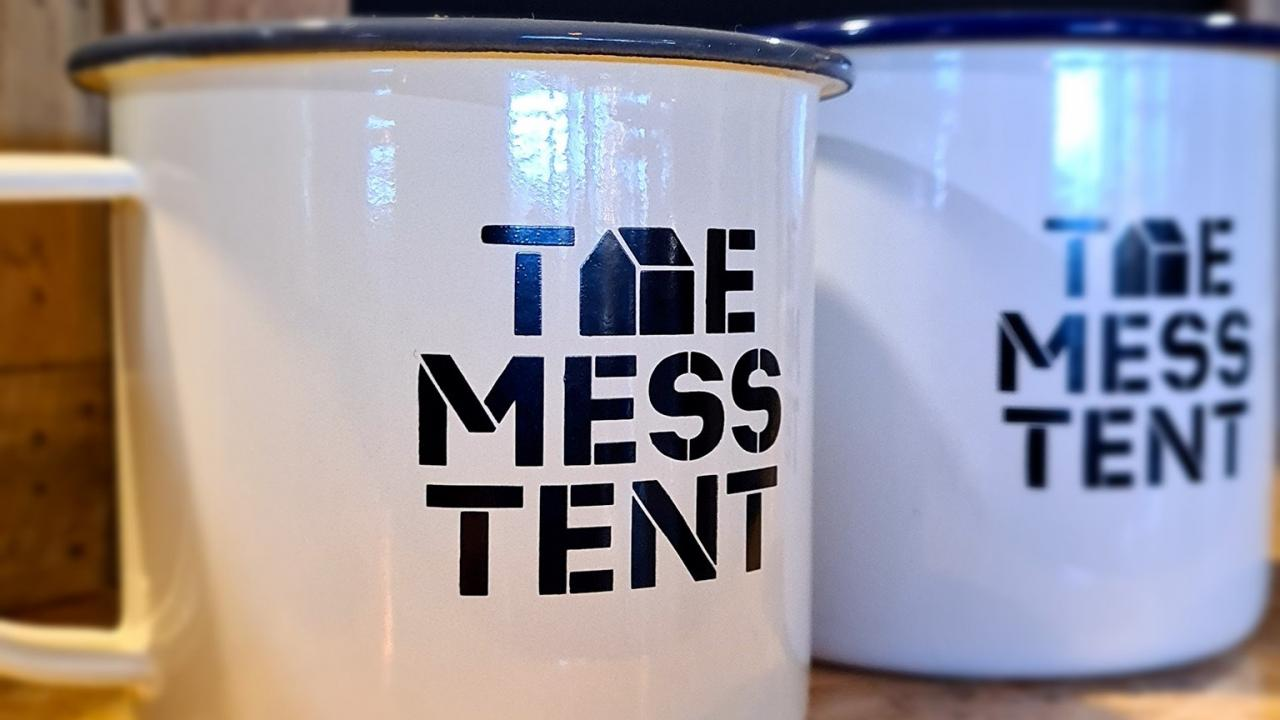 Relax and enjoy a coffee and try something on the soldiers menu at The Mess Tent cafe.