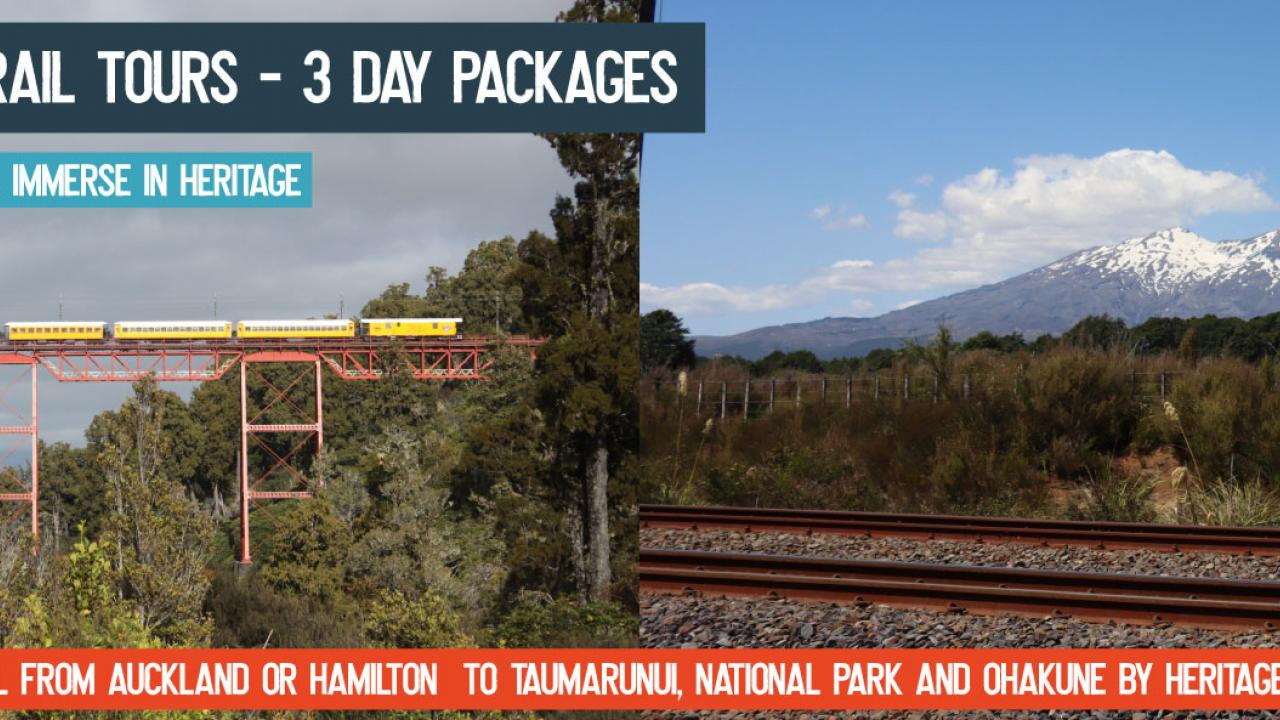 Discover the natural beauty of the North Island Main Trunk railway line onboard your very own exclusive heritage train with our Discover Ruapehu Rail Tours. Your weekend away starts when our friendly staff welcome you onboard our lovingly restored carriages.