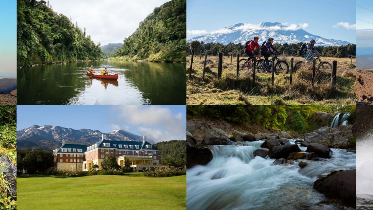 The world renowned Tongariro National Park and Whanganui National Park set the backdrop for a truly unique New Zealand experience. Situated just south of Lake Taupō, Ruapehu region with its dramatic volcanic landscapes, lush native forests and spiritual rivers.