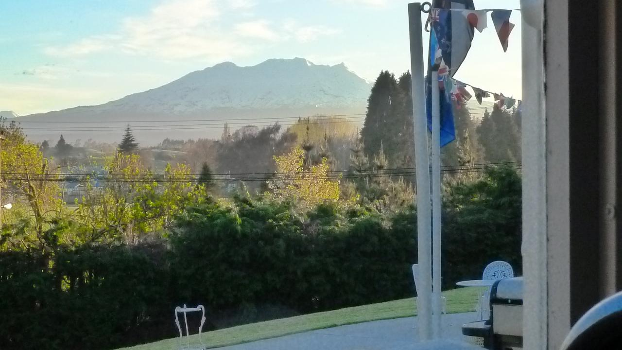 Guest room view of Mt Ruapehu