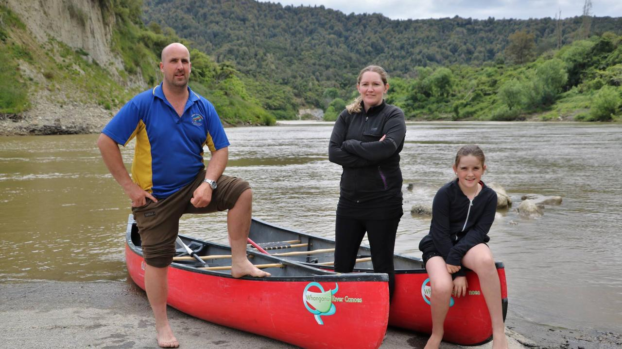 Ben and Rebecca, owners of Whanganui River Canoes