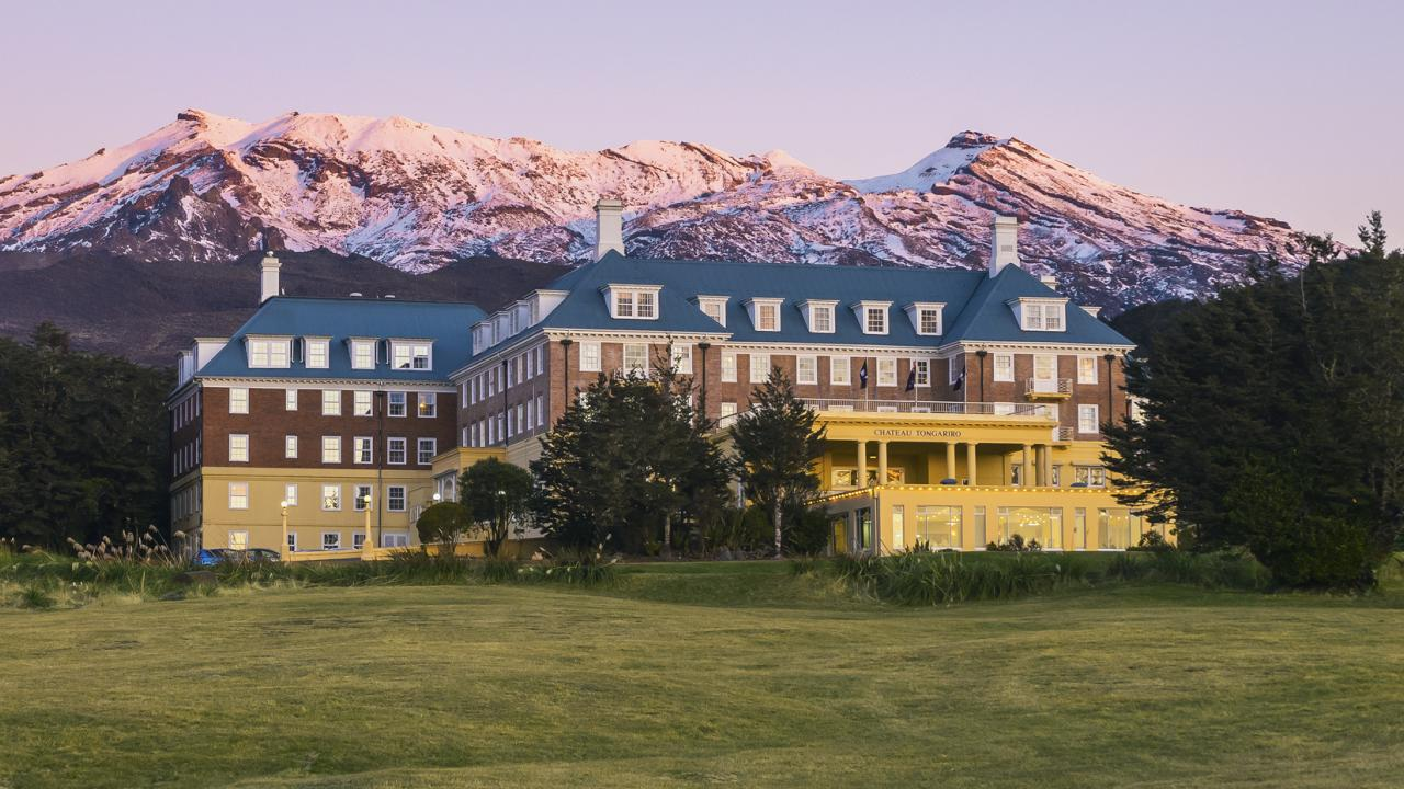 Chateau Tongariro Hotel during Autumn
