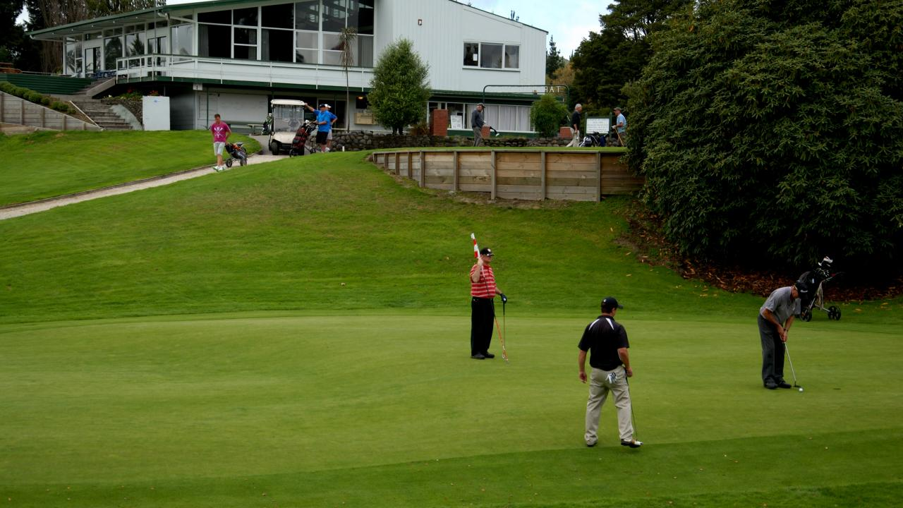 On the 8th green