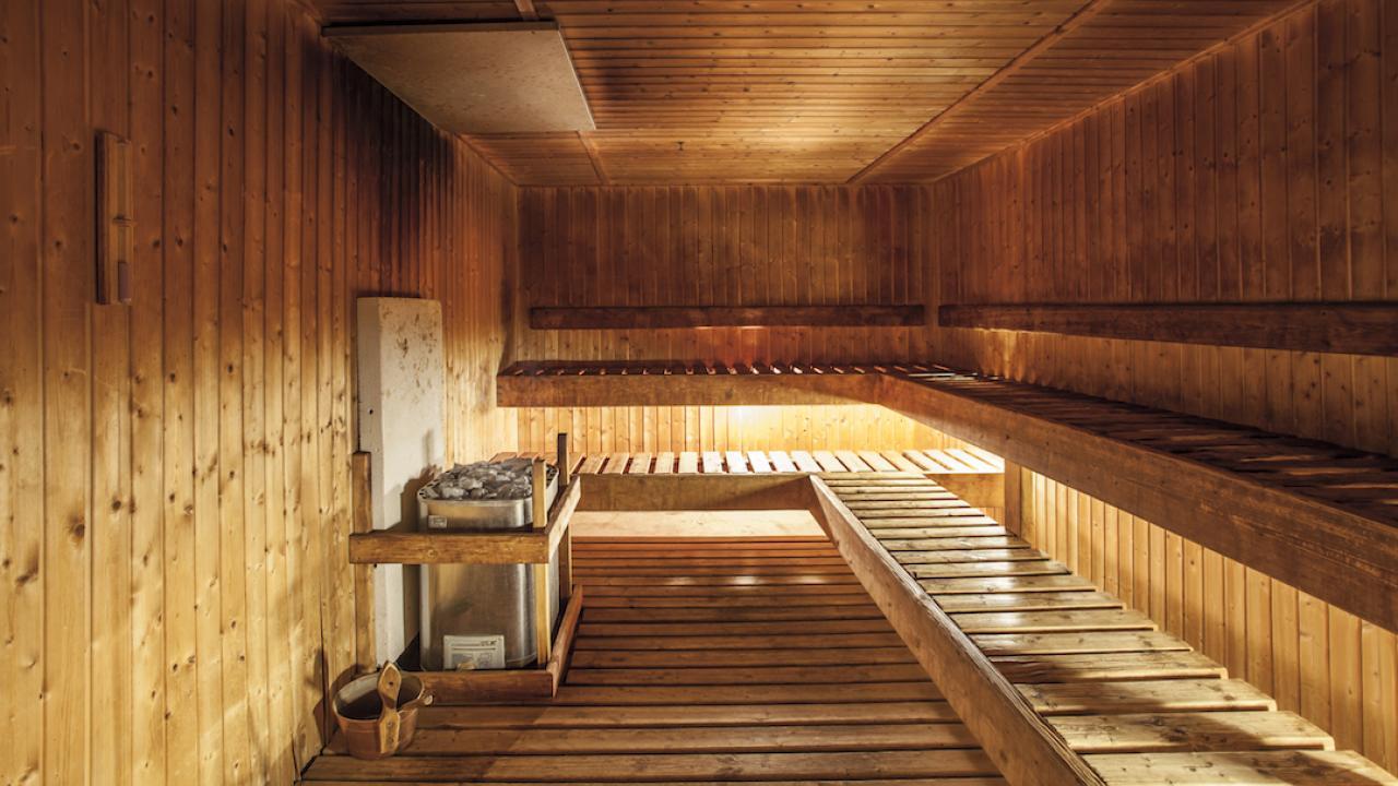 Chateau Tongariro Hotel sauna