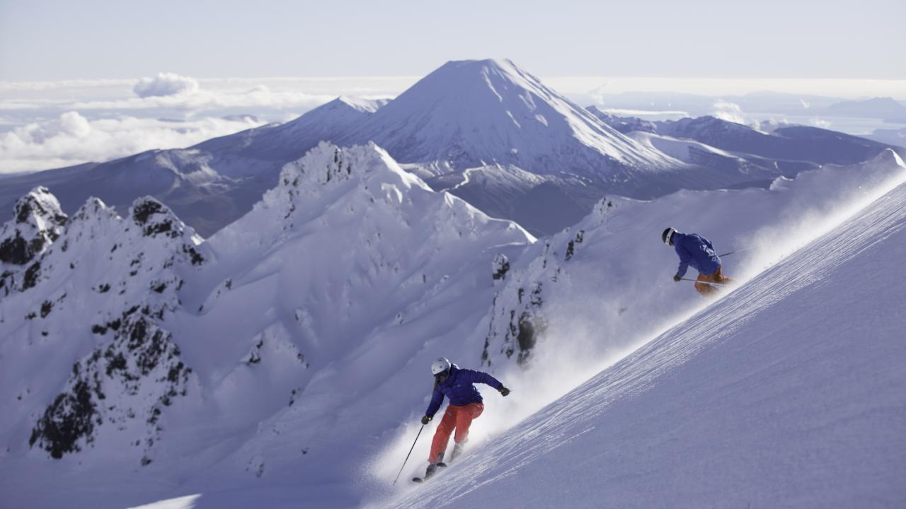 Whakapapa Ski Area, New Zealand - New Zealand's largest ski area.