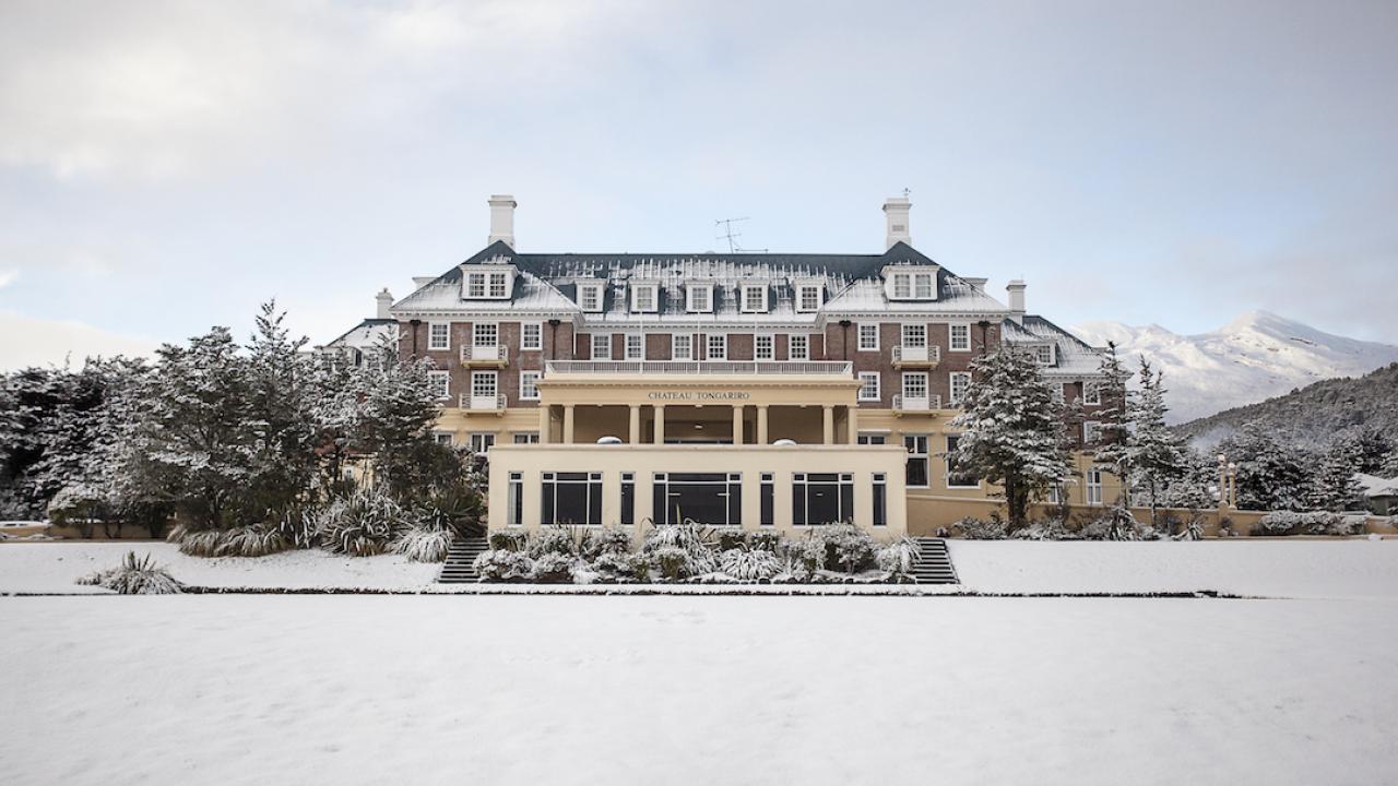 Chateau Tongariro Hotel during Winter