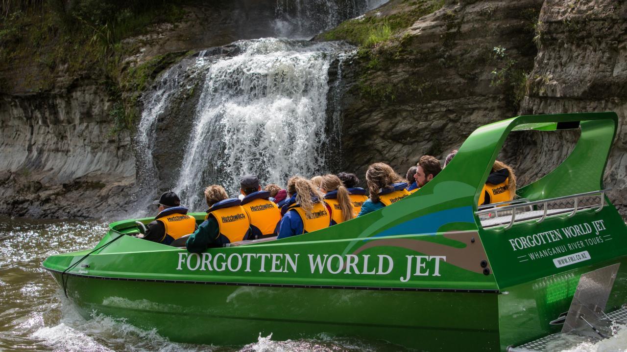 Whanganui River - waterfalls.