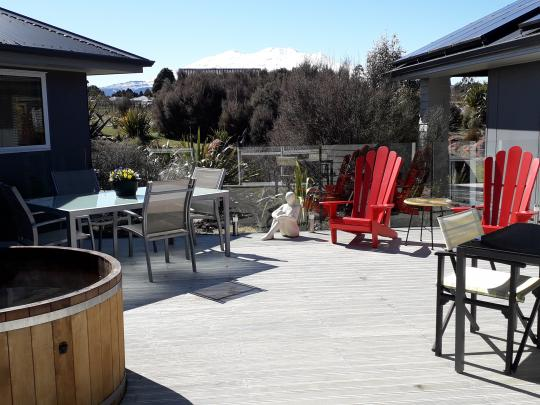 Enjoy a hot tub after a big day exploring Tongariro National Park.