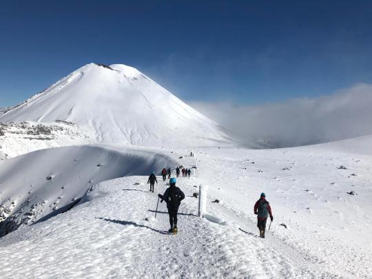 Winter Tongariro Alpine Crossing guided walk with Adrift Tongariro