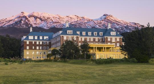 Chateau Tongariro Hotel during Autumn