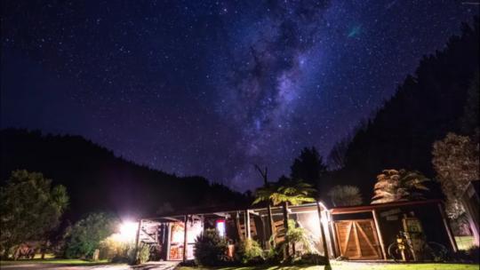 Blackfern Lodge by night