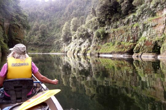 Enjoy the pristine untouched environment as you paddle down the Whanganui River